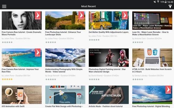 Tuto.com Digital Courses apk screenshot