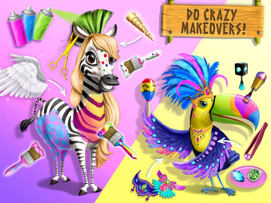 Jungle animal hair salon 2 tropical pet makeover apk for Hair salon 2
