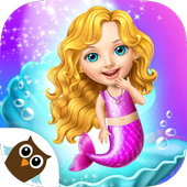 Sweet Baby Girl Mermaid Life - Magical Ocean World-icoon
