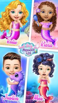 Sweet Baby Girl Mermaid Life - Magical Ocean World-poster