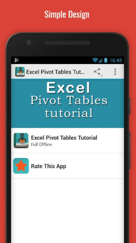 learn excel pivot tables apk download free education app for