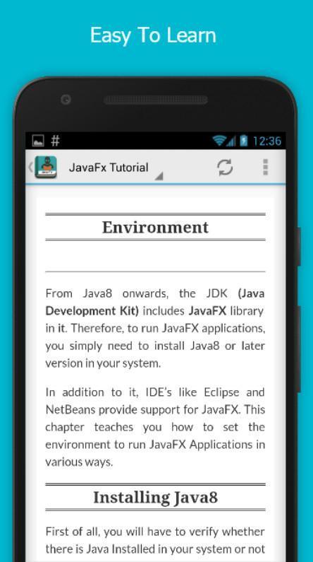 JavaFx Full Offline Tutorial for Android - APK Download