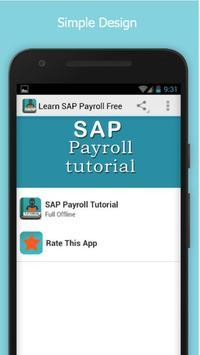 Learn SAP Payroll Free poster