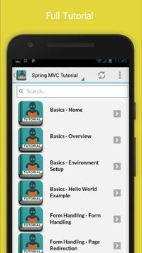 Free Spring MVC Basic Tutorial apk screenshot
