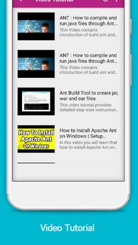 Apache Ant Offline Tutorial apk screenshot