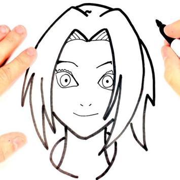 Tutorial Zeichnen von Zeichen Naruto Plakat