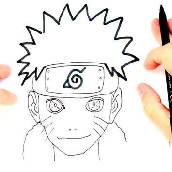 Tutorial Zeichnen von Zeichen Naruto Screenshot 1