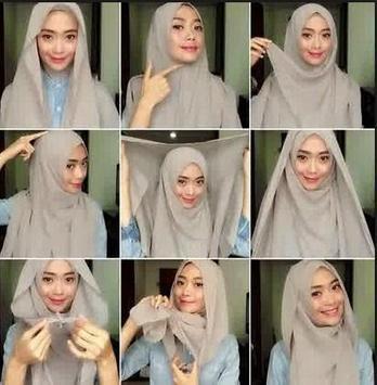 Gambar Tutorial Hijab Pesta Terbaru poster