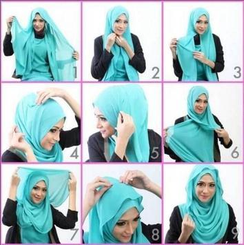 Gambar Tutorial Hijab Pesta Terbaru apk screenshot
