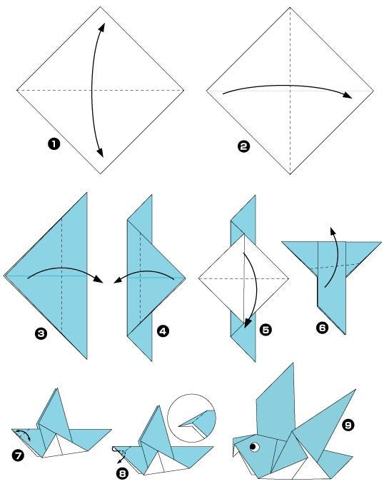 Easy Origami Whale - Paper Crafts for Kids - Red Ted Art - Make ... | 685x538