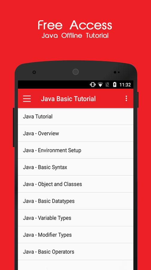 Java Offline Tutorial for Android - APK Download