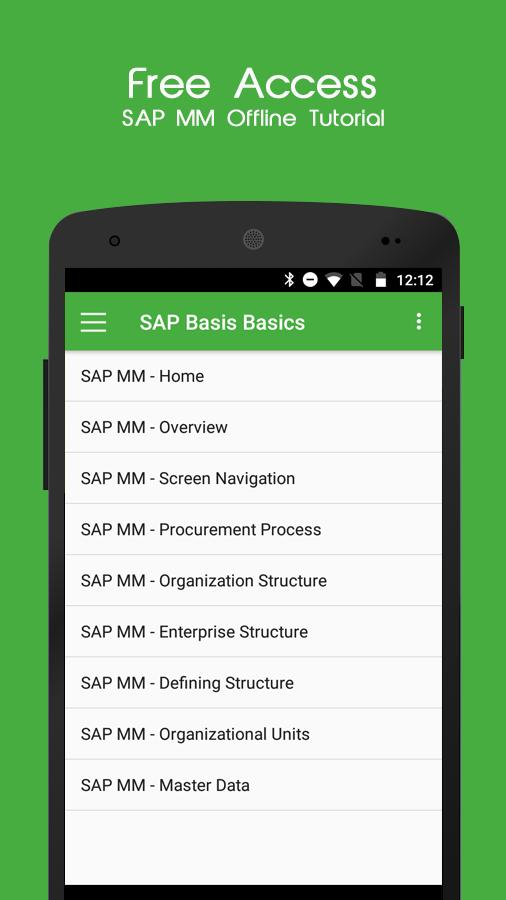 SAP MM Offline Tutorial for Android - APK Download