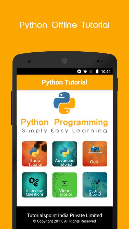 Python Offline Tutorial for Android - APK Download