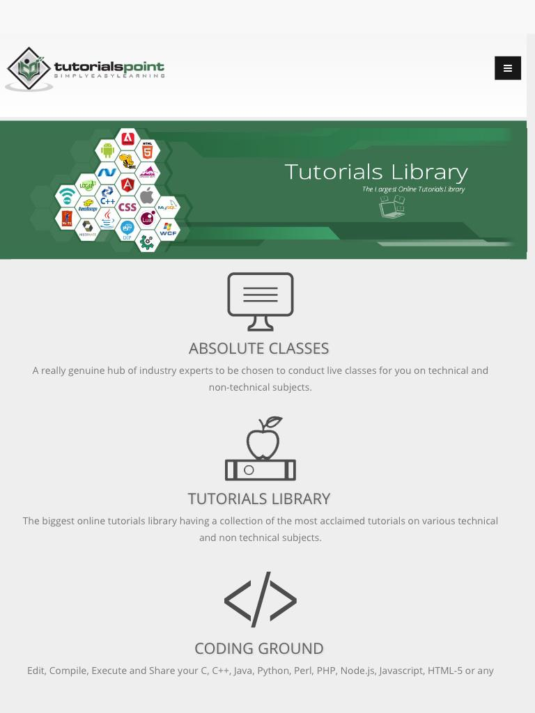 Tutorials Point Online Courses cho Android - Tải về APK