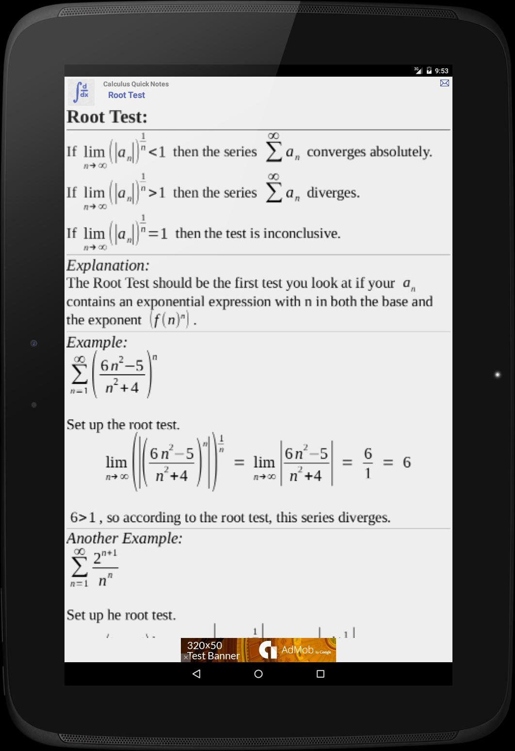 Calculus Quick Notes for Android - APK Download