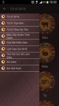 Tu Vi 2016 screenshot 1