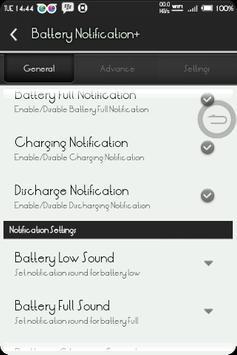 BatteryNotification+ screenshot 1