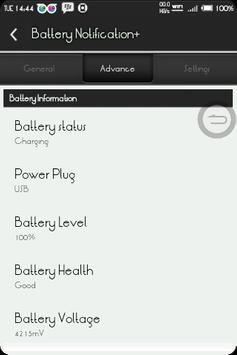 BatteryNotification+ screenshot 2