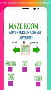 Maze room - adventure in a sweet labyrinth poster