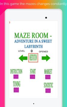 Maze room - adventure in a sweet labyrinth screenshot 10