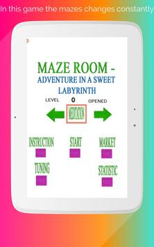 Maze room - adventure in a sweet labyrinth screenshot 5