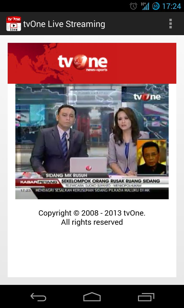 Tvone Live Streaming For Android Apk Download