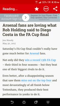 Breaking Arsenal News apk screenshot