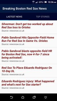 Breaking Boston Red Sox News poster