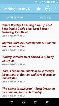 Breaking Burnley News poster