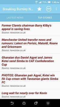 Breaking Burnley News screenshot 1