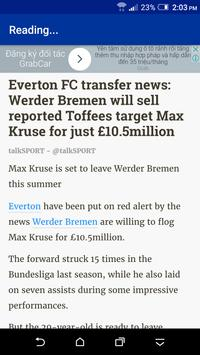 Breaking Everton News apk screenshot