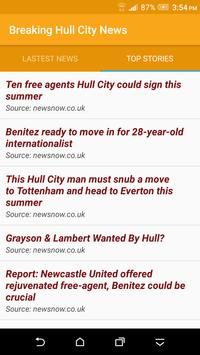 Breaking Hull City News screenshot 1