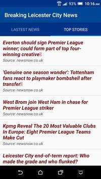 Breaking Leicester City News apk screenshot