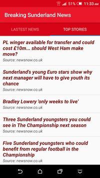Breaking Sunderland News screenshot 1
