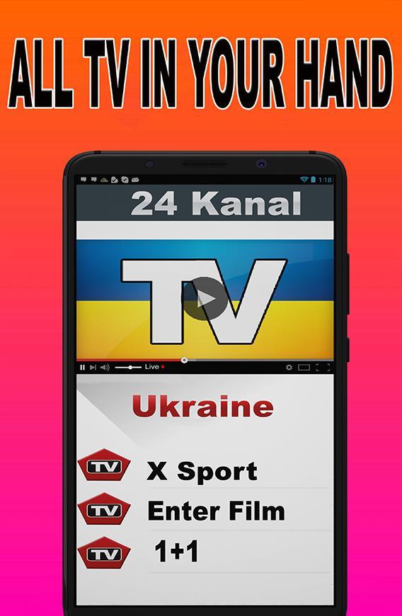 TV Ukraine : Live Programs Free Satellite Info poster
