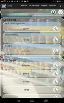 Transparent Shopping List screenshot 2