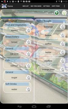 Transparent Shopping List screenshot 3
