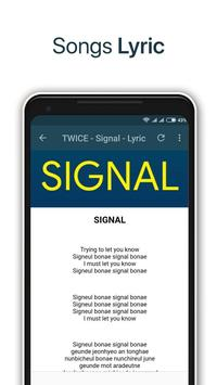 TWICE - Signal + Lyrics Offline screenshot 2