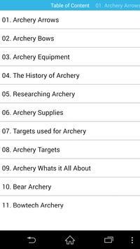 Guide for Archery & precision poster