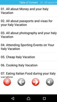 Italy Vacation free audioook apk screenshot