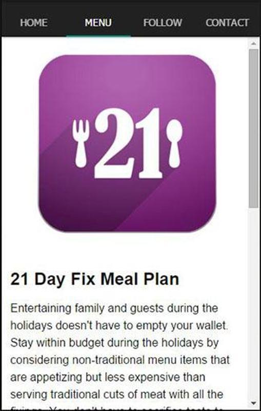 21 Day Fix Meal Plan Screenshot 1
