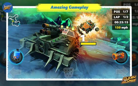Clash for Speed – Xtreme Combat Car Racing Game تصوير الشاشة 1
