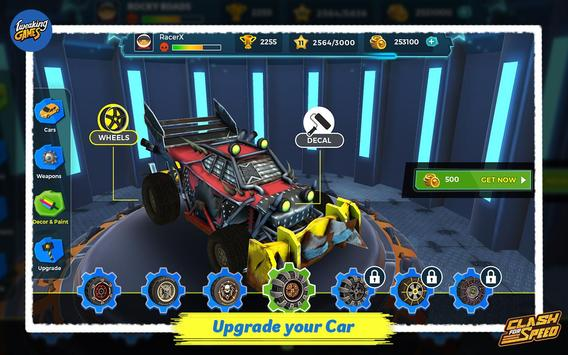 Clash for Speed – Xtreme Combat Car Racing Game تصوير الشاشة 20