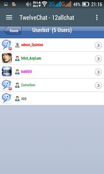 Twelve Chat 12allchat apk screenshot