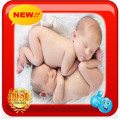 Twin Baby Photo Frames icon