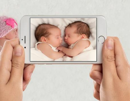 Twin Baby Photo Frames poster