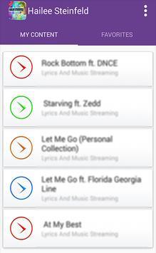 Hailee Steinfeld-Songs Full apk screenshot