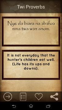 Twi Proverbs : ghana proverbs apk screenshot