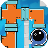 pipe repair connect : fix plumber puzzle icon