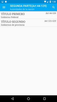 Constitución de Argentina screenshot 4
